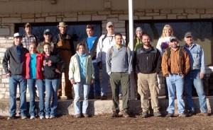 Group photo of trail building crew